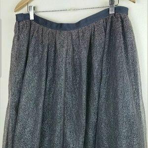 Isaac Mizrahi Tulle Skirt, Size 14 Gray